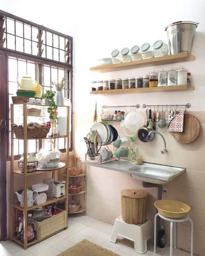 30 Gambar Idea Hias Dapur Bajet Tanpa Kabinet Dapur Sangat Menarik Ilham Dekorasi