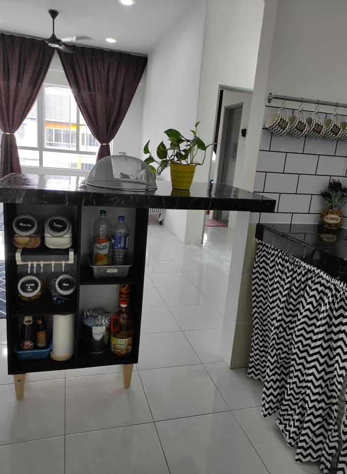 Buat Sendiri Table Bar Dapur Untuk Isteri Dengan Modal Tak Sampai Rm150 Jimat Sangat Puas Hati Ilham Dekorasi