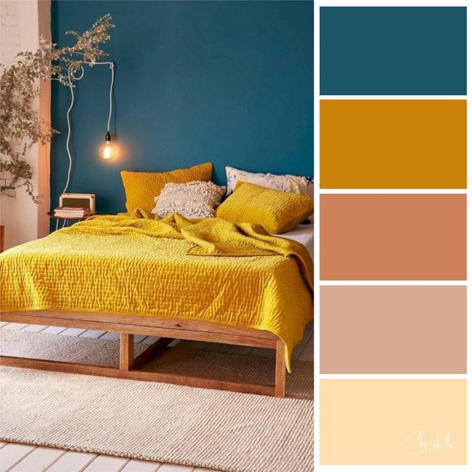 15 Gambar Padanan Warna Tema Menarik Moden Untuk Bilik Tidur Serius Lawa Ilham Dekorasi