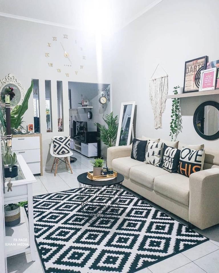 12 Cara Hias Ruang Tamu Sempit Semua Cantik Ilham Dekorasi