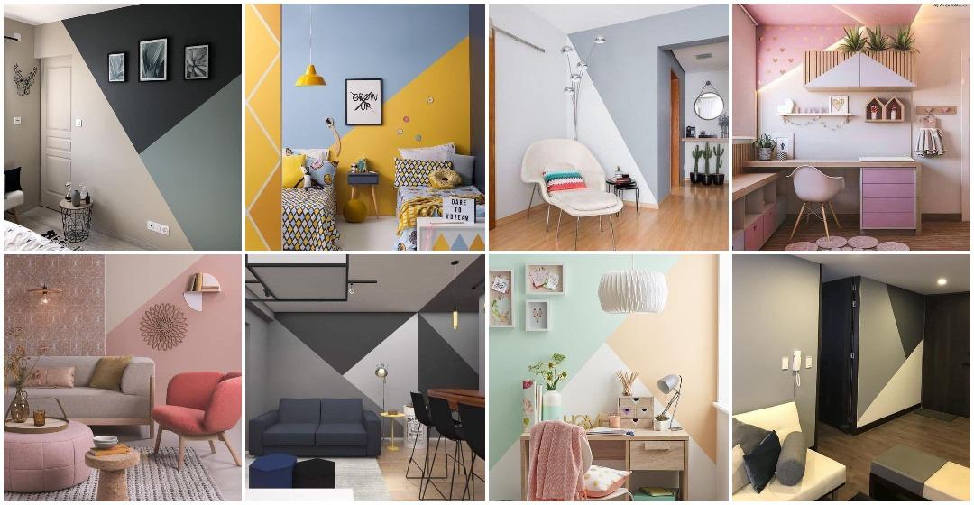 14 Idea Corak Geometri Lawa Untuk Feature Wall Rumah Boleh Cat Sendiri Jer Ilham Dekorasi