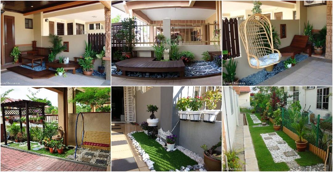 30 Gambar Idea Mini Landskap Simple Untuk Hias Laman Rumah Ilham Dekorasi