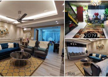 dekorasi rumah flat kos rendah 680 sqft. kecil, ruang
